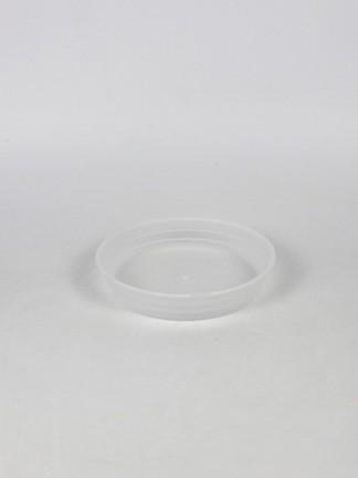 Átlátszó műanyag orchidea cserép alátét, 12-es