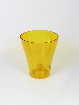 Műanyag orchidea kaspó 14-es - sárga